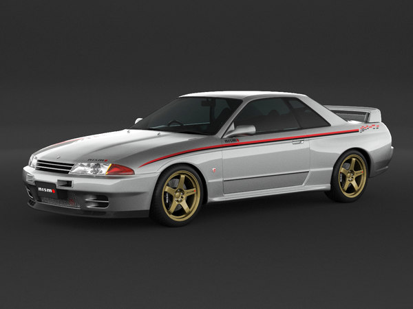 3D car nissan skyline r32 model