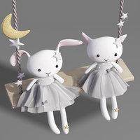 3D swings plush cat kitten