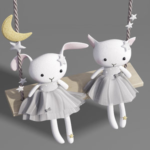 3D swings plush cat kitten