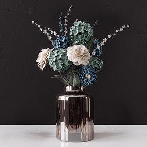 delicate decorative bouquet 3D model