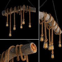 rope trunk ceiling lamp 3D model
