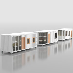 3D model container ticketing