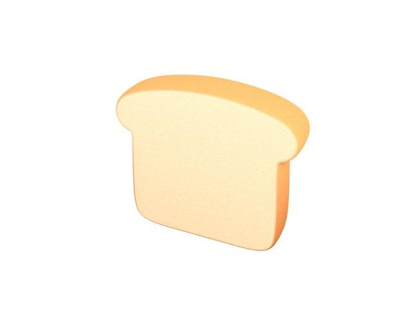 3D bread cartoon