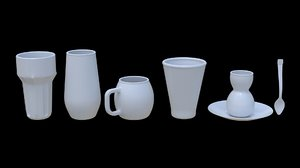 3D model 5 glass -
