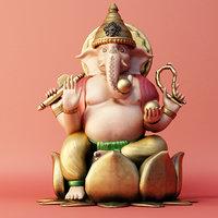 india elephant god 3D