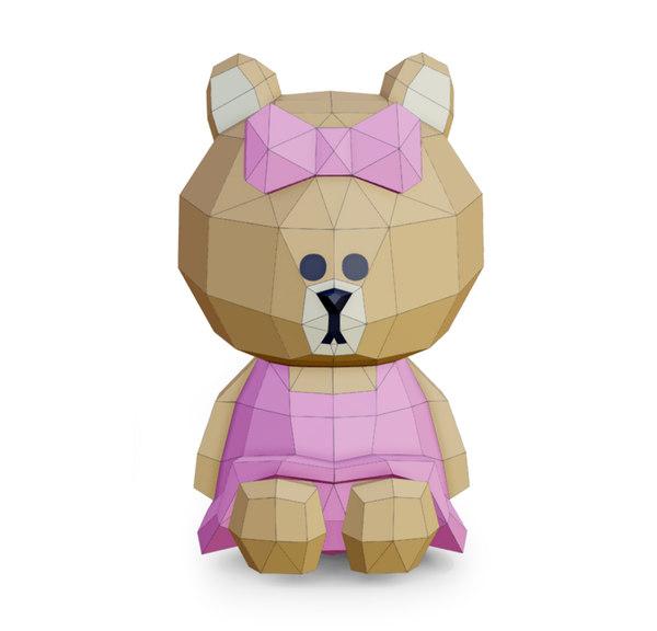 3D bear choco toys