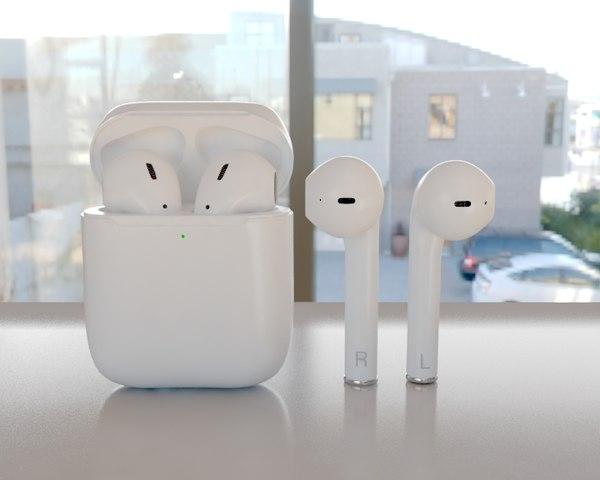 3D headphones earphone model