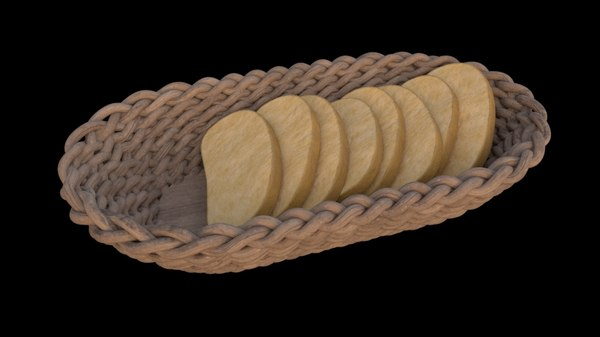 basket breads 3D model