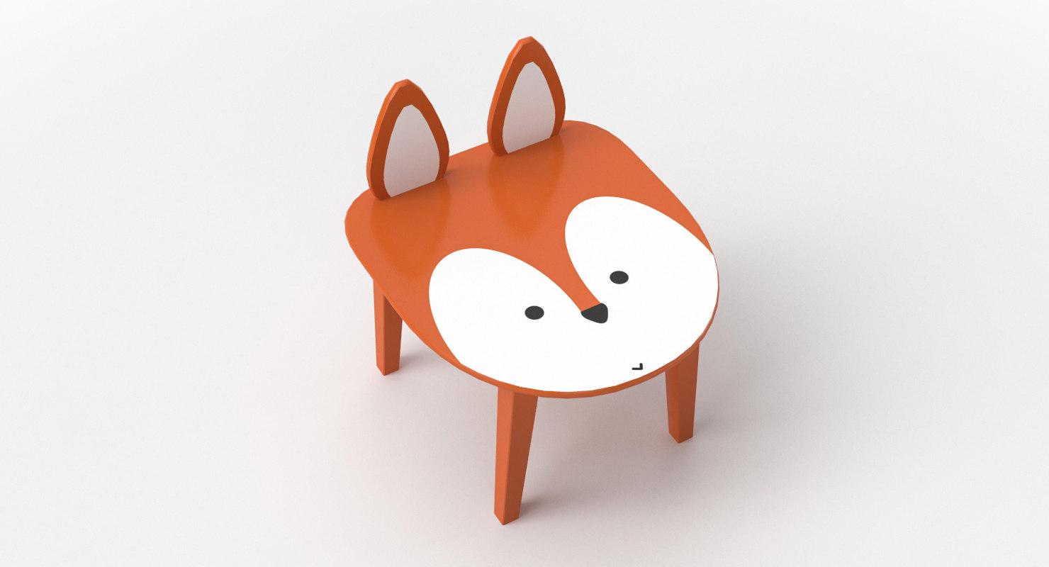 3D kids chair