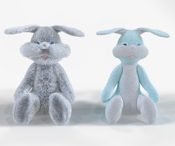 3D rabbit z soft toy