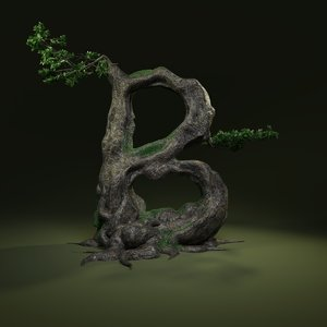 tree letter b 3D model