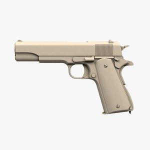 3D colt m1911 model