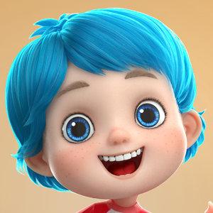 boy expressions 3D model