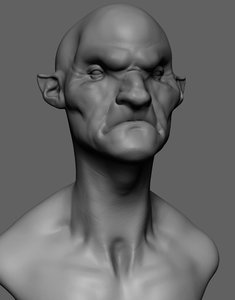 3D creature head reference