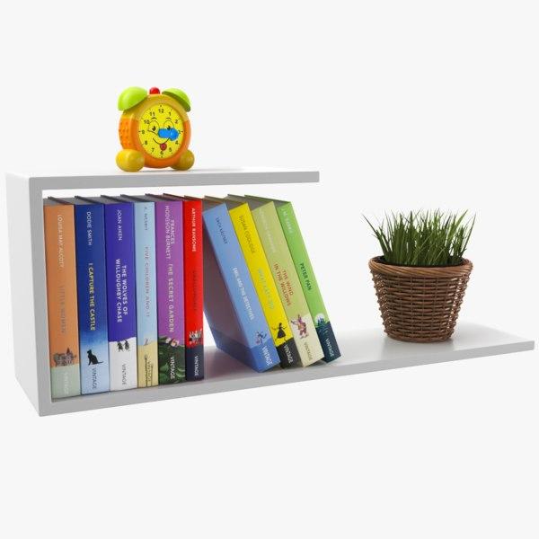 real modern shelf model