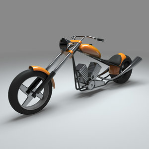cartoon chopper bike model