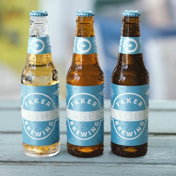 beer bottle octane 3D model