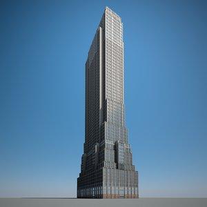3D skyscraper building highrise
