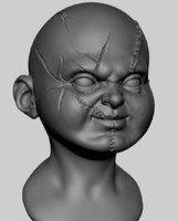 characters creatures head 3D