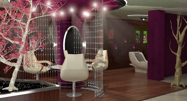 3D modern beauty salon
