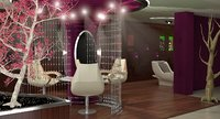 3D modern beauty salon