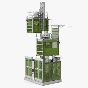 3D construction hoists