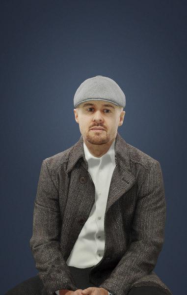 3D coat tweed newsboy model
