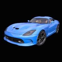 3D generic american supercar interior car model
