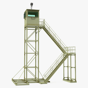military observation tower 3D model