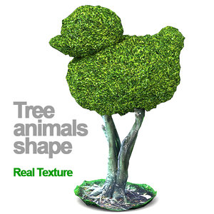 trees animals hd 3D model