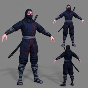 3D character ninja