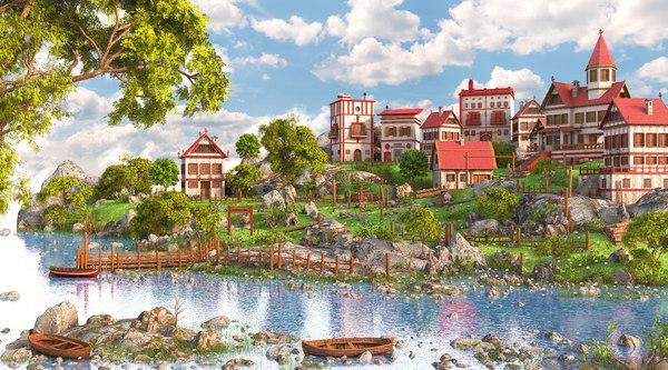 village environment 3D