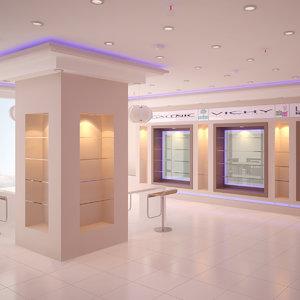 pharmacy interior model