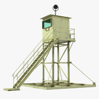 military guard tower 3D