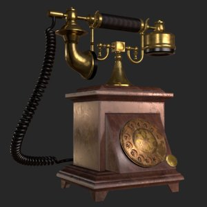 old antique phone 3D model