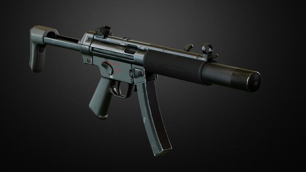3D model sub machine-gun