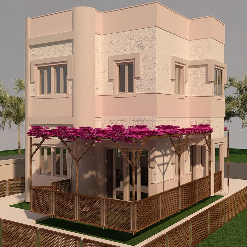 bodrum house exterior 3D model