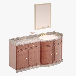 3D washbasin set model