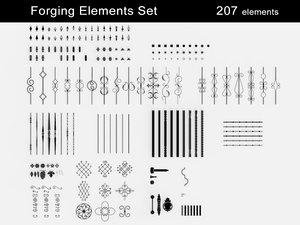 3D forging elements model