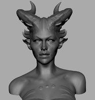 Demon Girl Bust