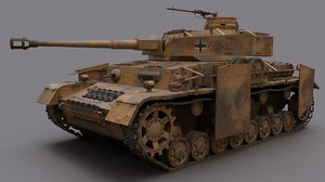 pzkpfw iv - panzer ww2 3D