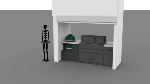 grill stall model