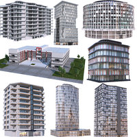 Modern Apartment Buildings Collection 2