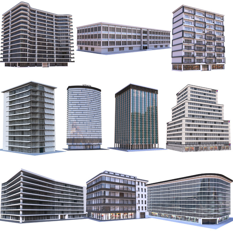 Modern Apartment Buildings Collection 3