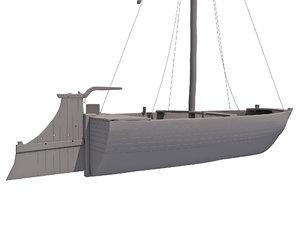 3d river boat