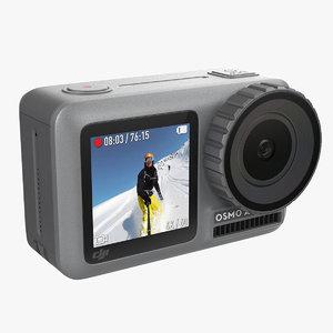 dji action camera 3D model