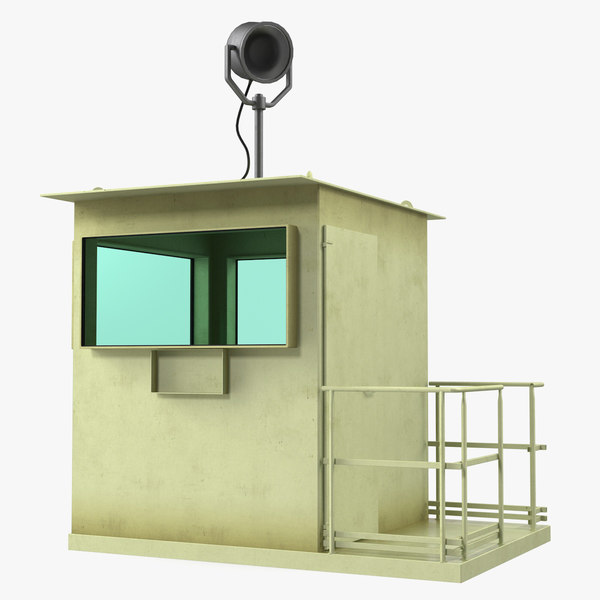 3D military guard cabin