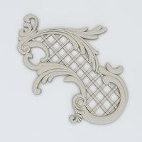 3D decorative plaster model
