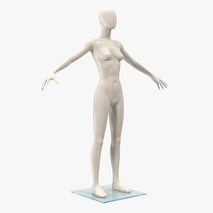 female mannequin t-pose 3D