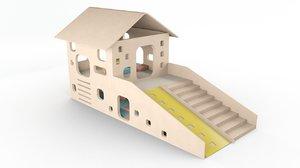 3D playground slide play